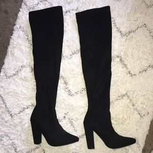 Shoes - Black Steve Madden Over the Knee heel boots